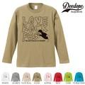 """【DEEDOPE】 """"LOVE ROCK """" ロンT 長袖 プリント Tシャツ"""