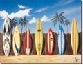 ブリキ看板 Surfboard Fence #58350