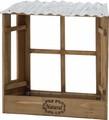 窓枠型プランター 〈ブラウン・ホワイト〉