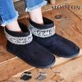 ◆ビジュー付きミニ丈フェイクムートンブーツ/靴/雑貨◆420221