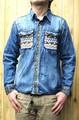 54101【特価】『和ウトドア』刺繍デニム長袖シャツ