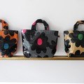 【3色展開】《黒い花シリーズ》ちょっとのお出かけに便利なミニバッグ♪