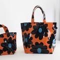 【3色展開】《黒い花シリーズ》肩からかけられる大きめサイズのショルダーバッグ♪