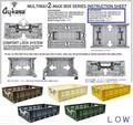 MULTIWAY2 [LOW]!コンフォートロック式 折り畳み収納ボックス
