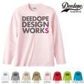"【DEEDOPE】 ""DESIGN WORKS "" ロンT 長袖 プリント Tシャツ"