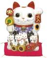 【風水 開運 雑貨】親子招福バンク(LL) 貯金箱 金運 置物 招き猫 ディスプレイ