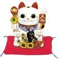 【風水 開運 雑貨】親子招福バンク(S) 貯金箱 金運 置物 招き猫 ディスプレイ