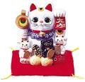 【風水 開運 雑貨】親子招福バンク(SS) 貯金箱 金運 置物 招き猫 ディスプレイ