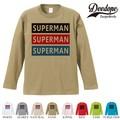 "【DEEDOPE】 ""SUPERMAN "" ロンT 長袖 プリント Tシャツ"