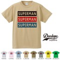 "【DEEDOPE】 ""SUPERMAN "" 半袖 プリント Tシャツ"