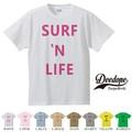 "【DEEDOPE】 ""SURF N LIFE "" 半袖 プリント Tシャツ"