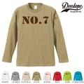 """【DEEDOPE】 """"NO.7 """" ロンT 長袖 プリント Tシャツ"""