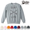"""【DEEDOPE】 """"SURF LIFE """" スエット プリント SWEAT トレーナー 裏パイル 裏起毛"""