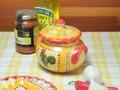 【ポルトガル製】陶器 ガーリックポット 手描き 幸せ ニワトリ柄(チキン) にんにく入れ・保存ケース