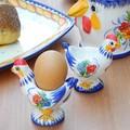 【ポルトガル製】陶器 食器 幸せを呼ぶ【バルセロスのニワトリ】シリーズ 手描き エッグスタンド