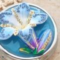 【戦プラ!】 花のアクセサリーケース クリスタル付小物入れ リンドウ