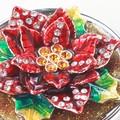 【戦プラ!】 花のアクセサリーケース クリスタル付小物入れ ポインセチア