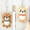 柴犬&チワワのストラッップ【フェルト羊毛】【手作りキット】