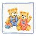 フェイラータオルハンカチ TEDDY KIDS BLUE