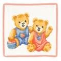 フェイラータオルハンカチ TEDDY KIDS CORAL