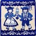 フェイラータオルハンカチ TRADITIONAL COSTUMES BLUE