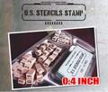 男の遊び心をコチョコチョくすぐってくれるステンシルスタンプ【US STENCILS STAMP 0.4インチ】
