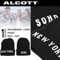 ◆2015秋冬新作小物◆【少量入荷】 ALCOTT アルコット  両面プリント ニット帽<NEW YORK&SOHO>