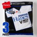 【年間定番】Hanes(ヘインズ) 【3枚組】青パック Vネック 3P-Tシャツ BLUE-PACK(HM2125G)