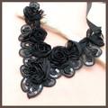 【均一SALE】薔薇とスパンコールのつけ襟風ネックレス