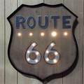 LEDライティングウォールサイイン ROUTE66 WOODY