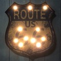LEDライティングウォールサイン ROUTE66 ORANGE