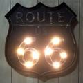 【SALE】LEDライティングウォールサイン ROUTE66 8bulb