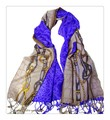 【セール】大判薄型ファッションクロコダイル模様100%ウールストール/スカーフ/マフラー 3328