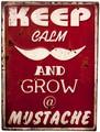 アンティークエンボスプレート[Mustache]