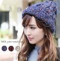 ◆コーデのワンポイントに。MIXカラー・ニット帽/帽子/アクセサリー/小物◆420925