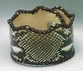蛇革レザーブレスレット(パイソン革/コブラ革)本革使用の本格派 ハンドメイド ウェーブ型