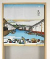 【和風のれん】浮世絵:富嶽三十六景:日本橋 90cm丈