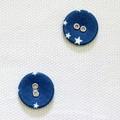 ボタン CAMPING - starry【デコレクションズ オリジナル生地・布】【2個入り】