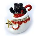 クリスマス商材☆キラキラピンブローチ タックピン☆ベアーインソックス 靴下 クマ