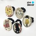 ゆるかわデザイン・オーバル型刺繍・シュシュ(5種類)