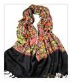 全面刺繍★高品質インド製カシミールウール・ アーリ刺繍大判ストール IN1111