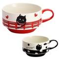 ■磁器単品 ■腹ペコ猫スタッキングスープ 2種