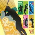 【日本製】スポーツ柄 手ぬぐい 注染手拭い 【和布華】