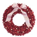 <<クリスマスリース>>★■X'mas/  ★Mmall pinecone & Berry Wreath M (Red)