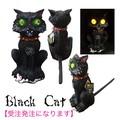 【ホラー イベント パーティー】Black Cat 人形 怖い ディスプレイ 黒猫 魔女 光る
