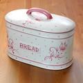 ポルトガル製 パンケース 陶器製 花柄 食品 保存容器 キッチンストッカー ピンク