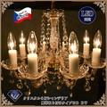 チェコ製 クリスタル8灯シャンデリアGD BT
