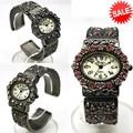 【在庫処分SALE】キラキラ☆フラワー☆アンティーク☆メタルバングルウォッチ レディース 腕時計