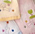 【サカキバラメグミふわふわメレンゲガーゼ】日本製 きらきら星フェイスタオル&ウォッシュタオル