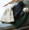 【倉庫移転記念SALE】◆フェイクファーポンポン付ニット帽/キャップ/ビーニー◆421914